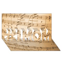 Music Notes Background #1 MOM 3D Greeting Cards (8x4)