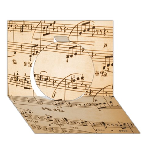Music Notes Background Circle 3D Greeting Card (7x5)