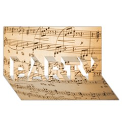 Music Notes Background PARTY 3D Greeting Card (8x4)