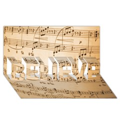 Music Notes Background BELIEVE 3D Greeting Card (8x4)