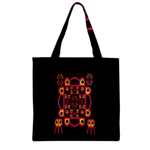 Alphabet Shirt Zipper Grocery Tote Bag
