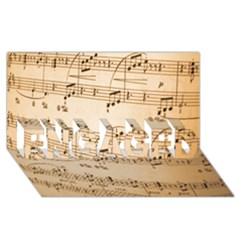 Music Notes Background ENGAGED 3D Greeting Card (8x4)
