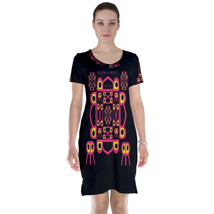 Alphabet Shirt Short Sleeve Nightdress