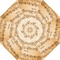 Music Notes Background Hook Handle Umbrellas (Small) View1