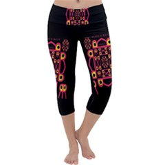 Alphabet Shirt Capri Yoga Leggings