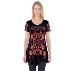 Alphabet Shirt Short Sleeve Tunic