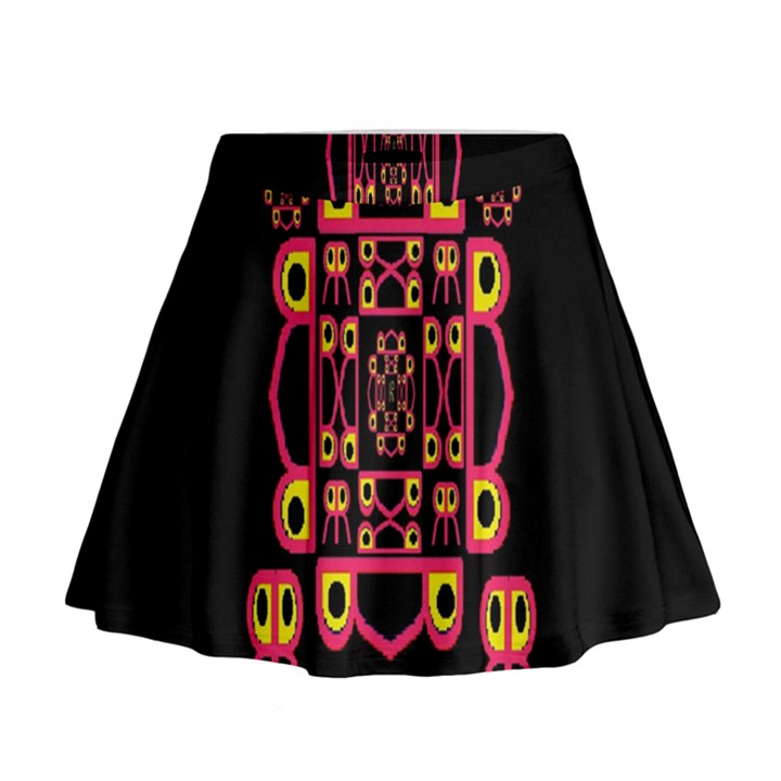 Alphabet Shirt Mini Flare Skirt