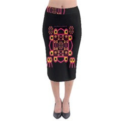 Alphabet Shirt Midi Pencil Skirt