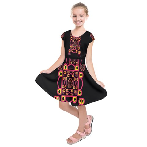 Alphabet Shirt Kids  Short Sleeve Dress