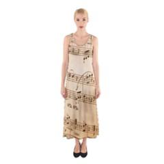 Music Notes Background Sleeveless Maxi Dress