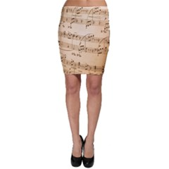 Music Notes Background Bodycon Skirt