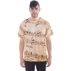 Music Notes Background Men s Sport Mesh Tee