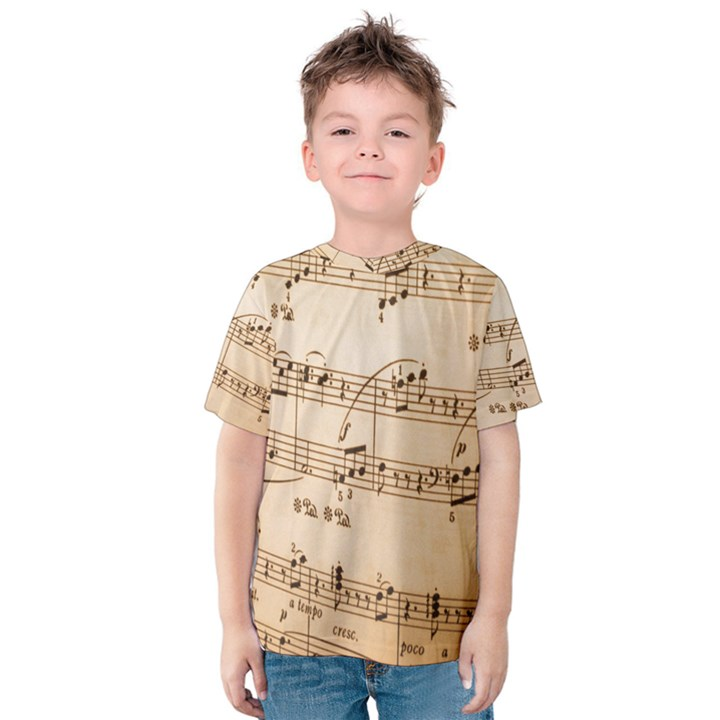 Music Notes Background Kids  Cotton Tee