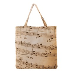 Music Notes Background Grocery Tote Bag