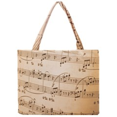 Music Notes Background Mini Tote Bag