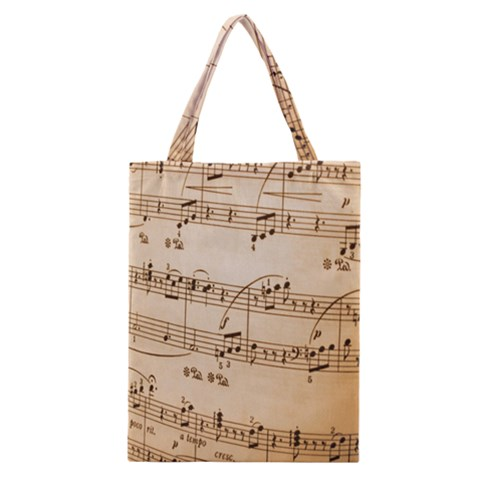 Music Notes Background Classic Tote Bag