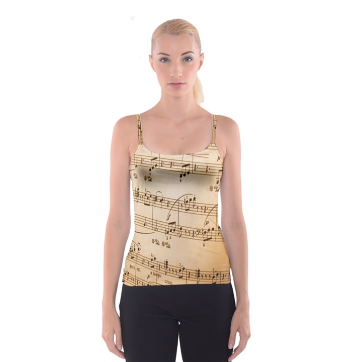 Music Notes Background Spaghetti Strap Top