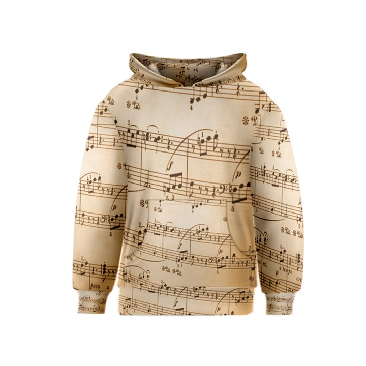 Music Notes Background Kids  Pullover Hoodie