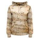 Music Notes Background Women s Pullover Hoodie View1