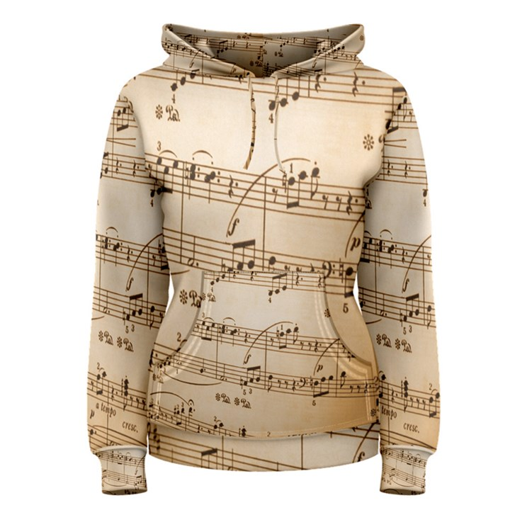 Music Notes Background Women s Pullover Hoodie