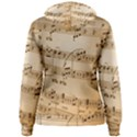 Music Notes Background Women s Pullover Hoodie View2