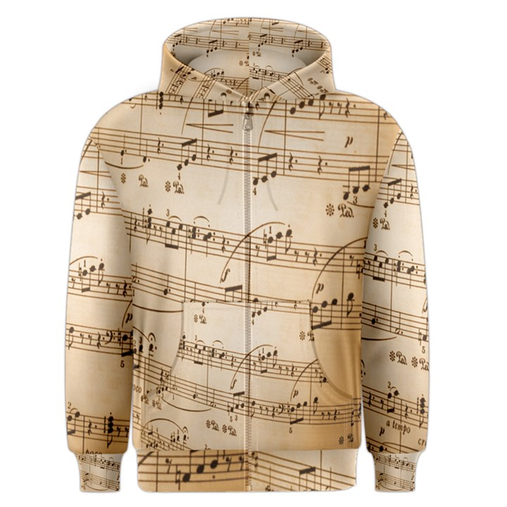 Music Notes Background Men s Zipper Hoodie