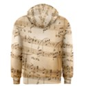 Music Notes Background Men s Zipper Hoodie View2