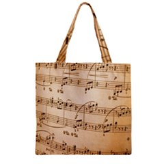 Music Notes Background Zipper Grocery Tote Bag