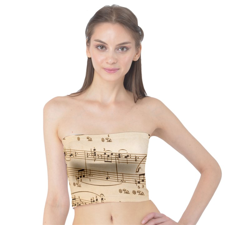 Music Notes Background Tube Top