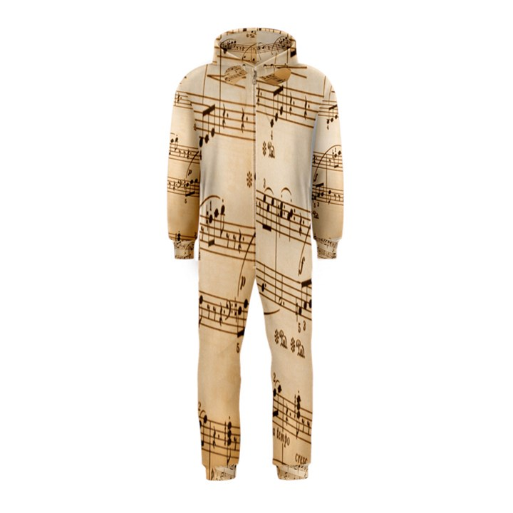 Music Notes Background Hooded Jumpsuit (Kids)