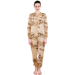 Music Notes Background OnePiece Jumpsuit (Ladies)