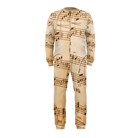 Music Notes Background OnePiece Jumpsuit (Kids)