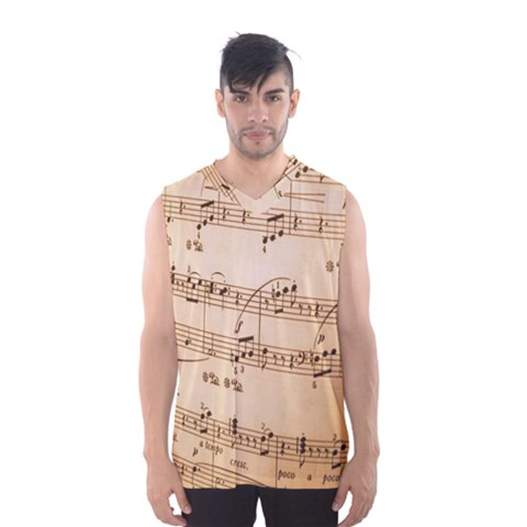 Music Notes Background Men s Basketball Tank Top