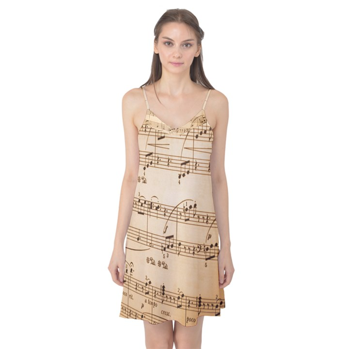 Music Notes Background Camis Nightgown
