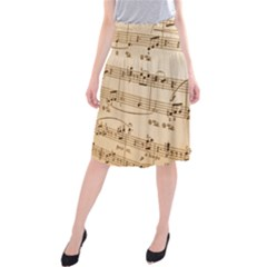 Music Notes Background Midi Beach Skirt