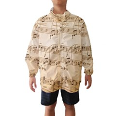 Music Notes Background Wind Breaker (Kids)