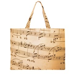 Music Notes Background Large Tote Bag
