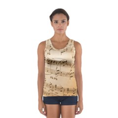 Music Notes Background Women s Sport Tank Top