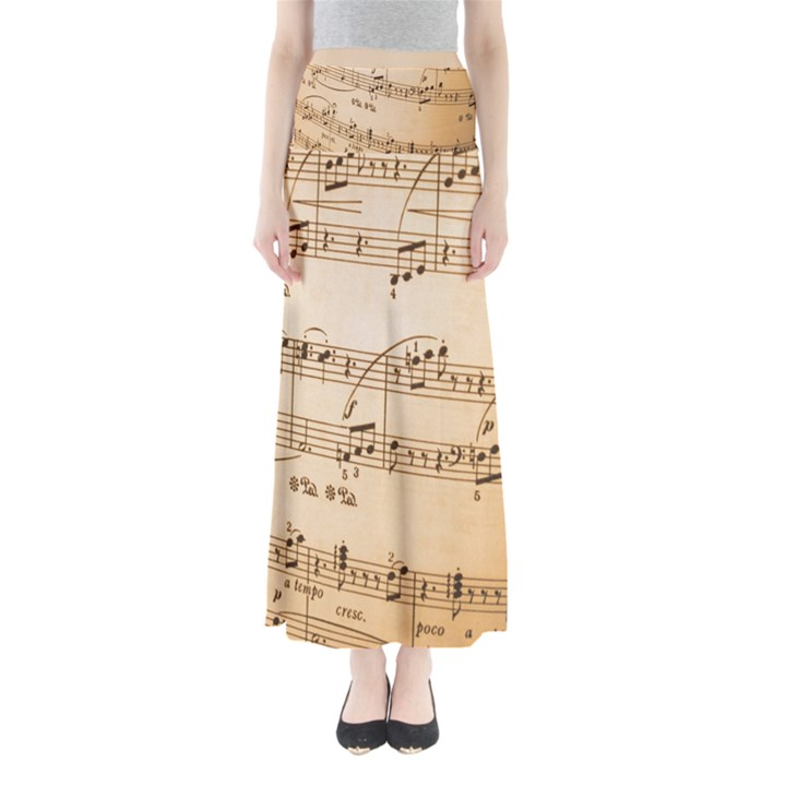 Music Notes Background Maxi Skirts