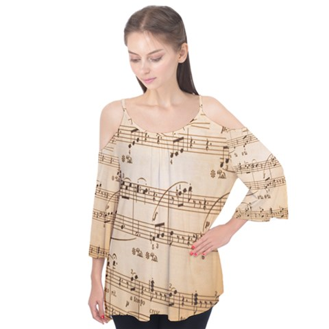 Music Notes Background Flutter Tees