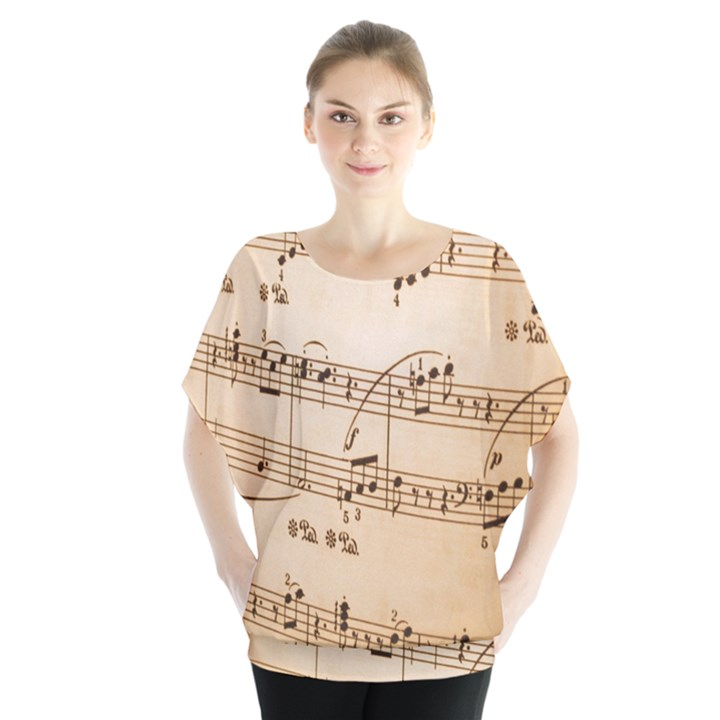 Music Notes Background Blouse