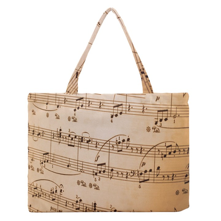 Music Notes Background Medium Zipper Tote Bag