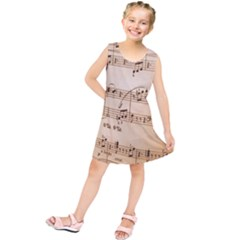Music Notes Background Kids  Tunic Dress