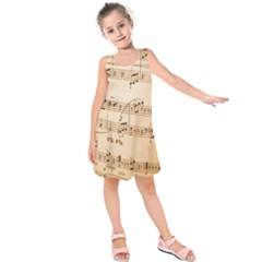 Music Notes Background Kids  Sleeveless Dress