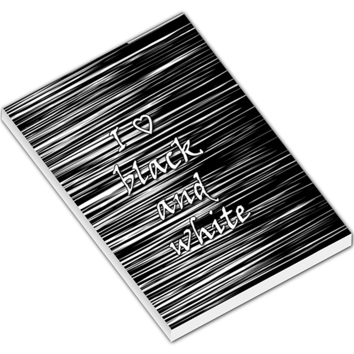 I love black and white Large Memo Pads