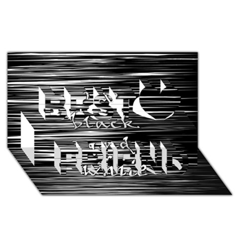 I love black and white Best Friends 3D Greeting Card (8x4)