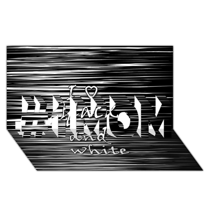 I love black and white #1 MOM 3D Greeting Cards (8x4)