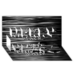 I love black and white Merry Xmas 3D Greeting Card (8x4)