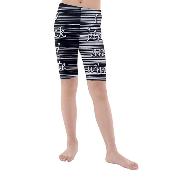 I love black and white Kids  Mid Length Swim Shorts