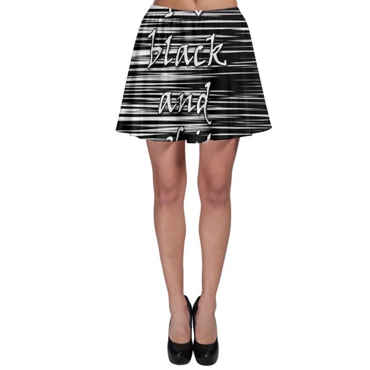 I love black and white Skater Skirt